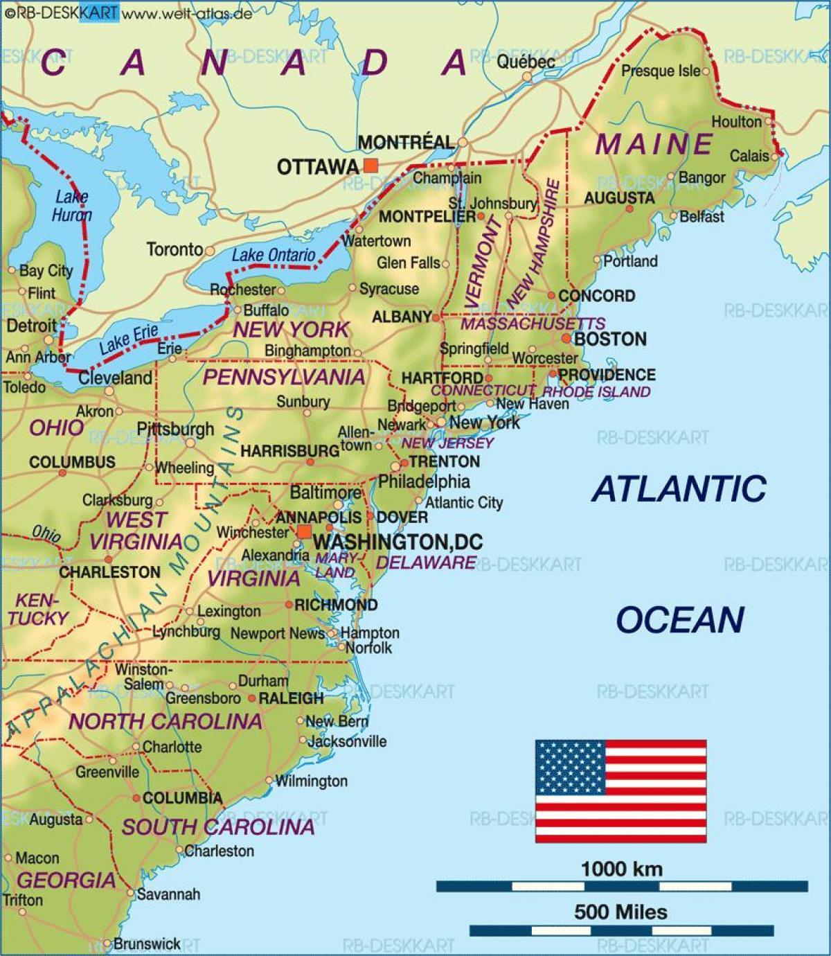 Karte Anzeigen.Boston Usa Karte Boston Auf Der Us Landkarte Vereinigte