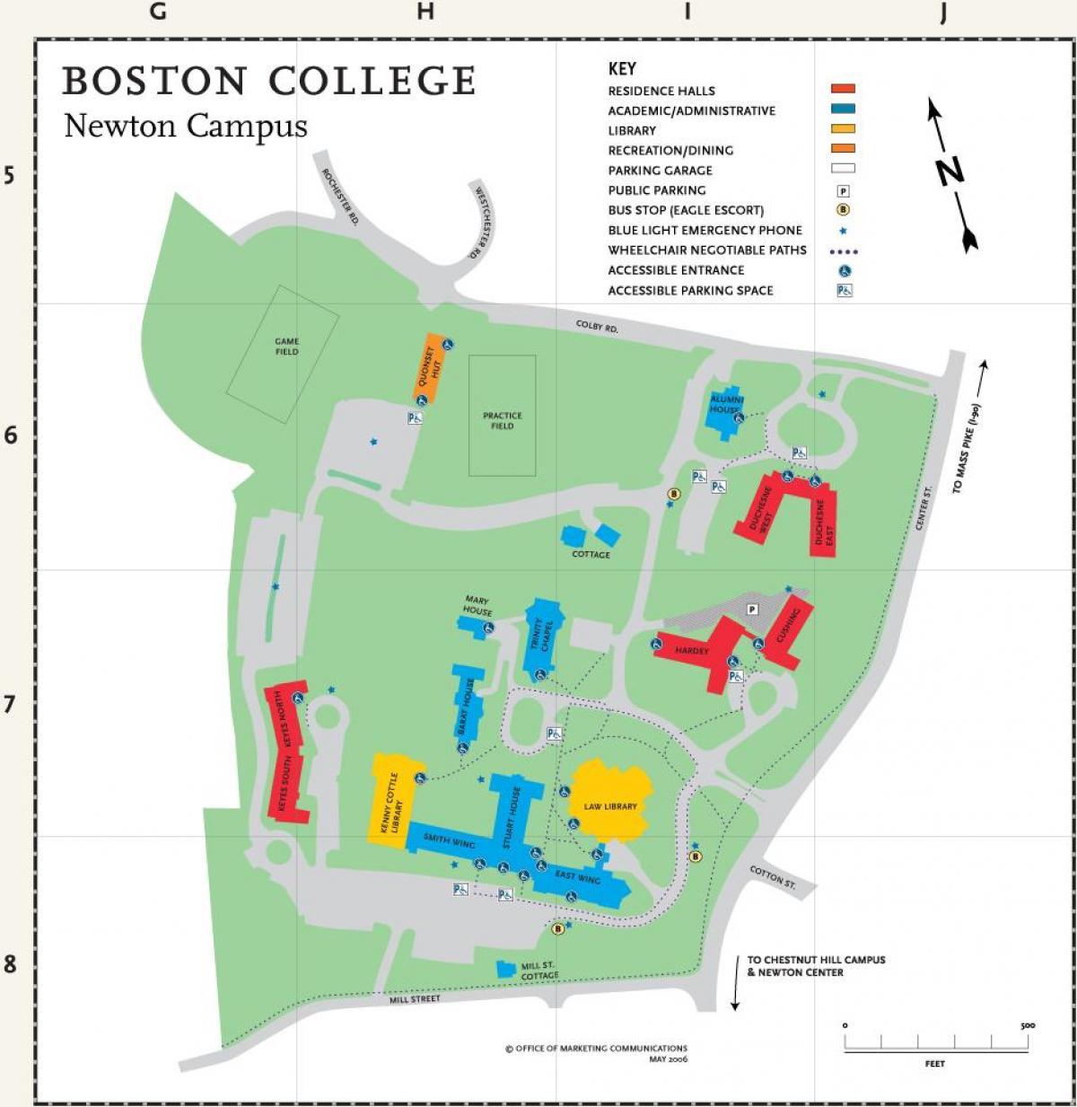 Boston college map - Map of Boston college (Vereinigte Staaten von on