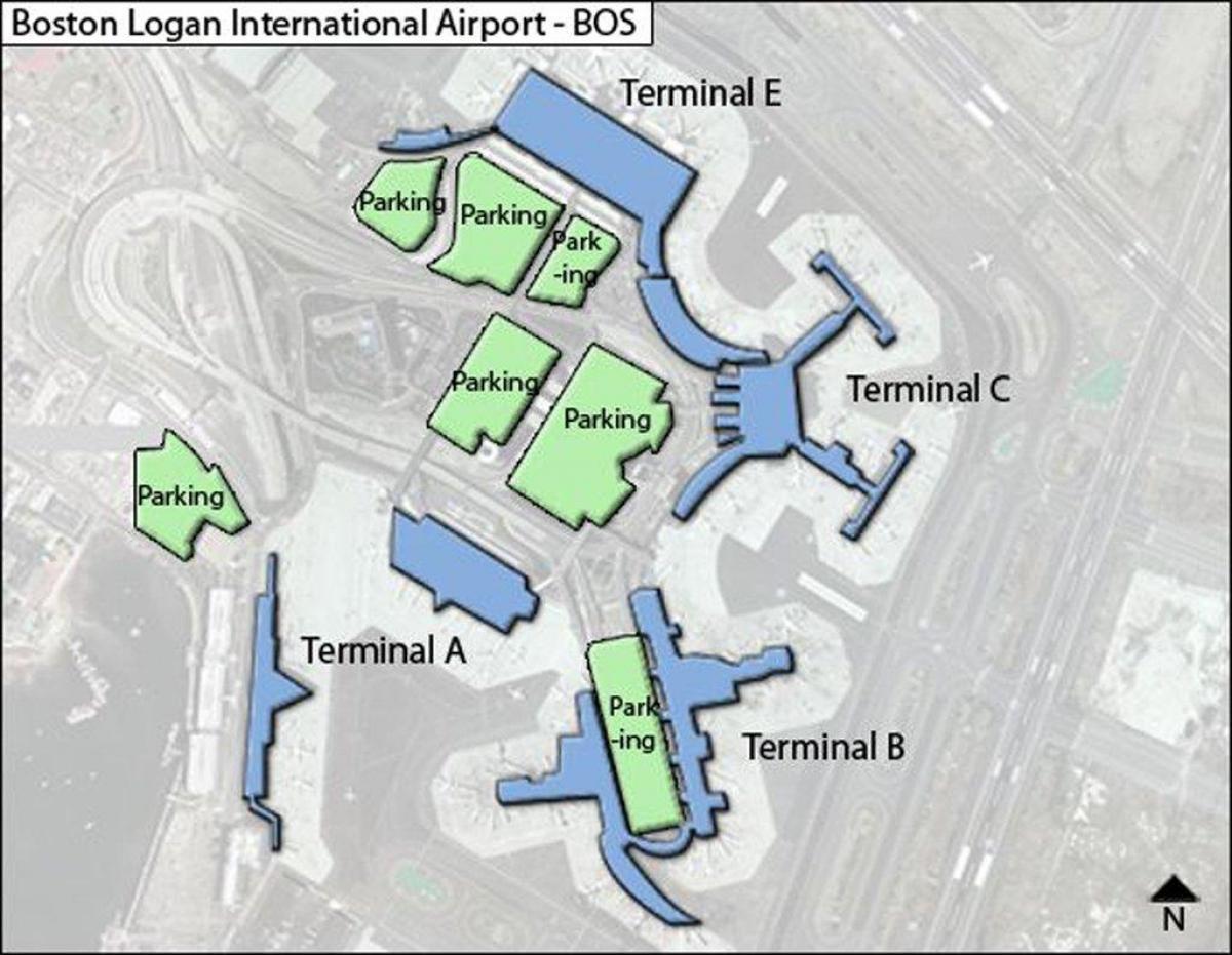 Logan airport terminal c-map - Karte von Logan airport ...