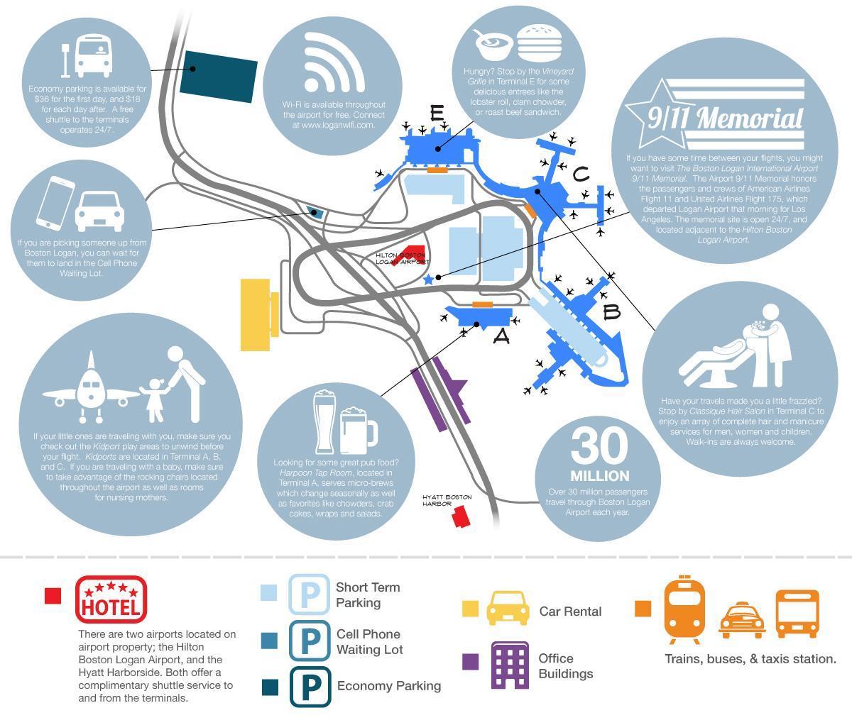 Logan airport Parken map - Boston Logan Parkplätze anzeigen ...