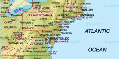 Boston-Karte - Karten-Boston (Vereinigte Staaten von Amerika)