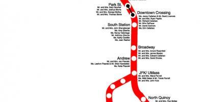Boston red line map - MBTA map red line (Vereinigte Staaten ...
